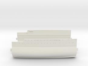 1/350 USS Oklahoma (1941) Midships in White Natural Versatile Plastic