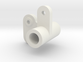 F28 Servo horn small holes in White Natural Versatile Plastic