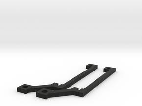 "5"" LCD Mounts for Fanatec Wheelbases in Black Natural Versatile Plastic"