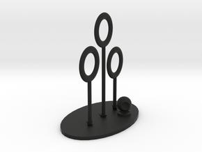 Quidditch Pitch Desk Toy in Black Natural Versatile Plastic