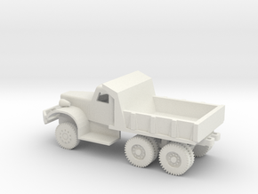 1/72 Scale Diamond T Dump Truck in White Natural Versatile Plastic