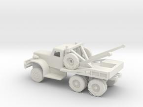 1/100 Scale Diamond T Wrecker in White Natural Versatile Plastic