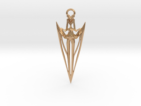 Arrowhead Pendant in Natural Bronze