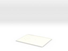 Lithopane Mona Lisa in White Processed Versatile Plastic