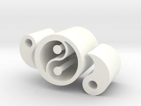Yin vs Yang - Executive Fidget Desk Toy. in White Processed Versatile Plastic