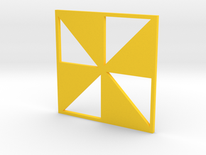 Pinwheel in Yellow Strong & Flexible Polished