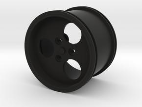 Rim scale 1 to 8 for Lego in Black Natural Versatile Plastic