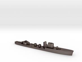 Italian Polluce torpedo boat 1:3000 WW2 in Polished Bronzed-Silver Steel