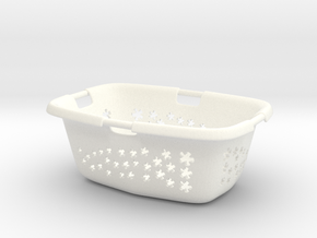 Laundry Basket in 1:12, 1:24 in White Processed Versatile Plastic: 1:12