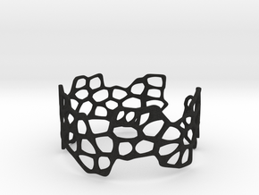 Cells Bracelet (open, 64mm) in Black Acrylic