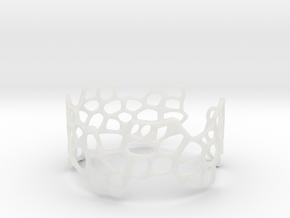 Cells Bracelet (open, 64mm) in Smooth Fine Detail Plastic