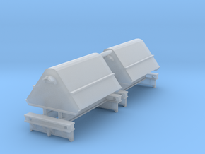 2x N Gauge Hudson Tipping Wagons in Smoothest Fine Detail Plastic