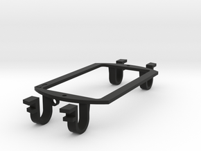 Humbucker-sized - (eureka)Sound Hole Pickup Mount in Black Natural Versatile Plastic