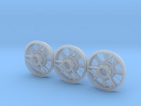 8 Blade Standard Radiator Fan 1/48 in Smoothest Fine Detail Plastic