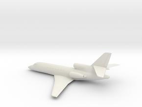 Dassault Falcon 50 in White Natural Versatile Plastic: 1:100