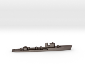 Italian Lupo torpedo boat 1:1800 WW2 in Polished Bronzed-Silver Steel