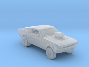 Mustang Gasser in Smooth Fine Detail Plastic
