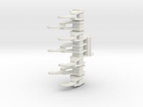 Kalkrechen für Liebherr R916 / limestone rake for  in White Natural Versatile Plastic: 1:50