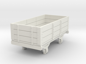 0-re-87-eskdale-3-plank-wagon in White Natural Versatile Plastic