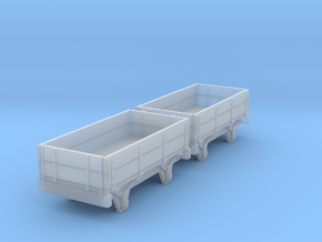 o-re-148fs-eskdale-2-plank-wagons in Smooth Fine Detail Plastic
