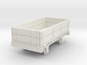 0-re-76-eskdale-2-plank-wagon in White Natural Versatile Plastic