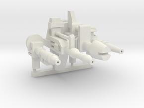 4 Siege Machines--Heroes (5mm) in White Natural Versatile Plastic
