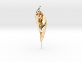 Signa Curve Pendant  in 14K Yellow Gold