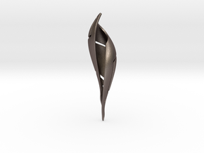 Signa Curve Pendant  in Polished Bronzed Silver Steel