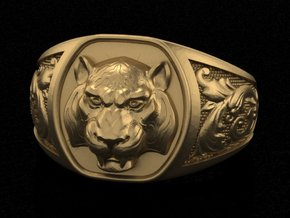 Tiger ring # 3 in White Acrylic
