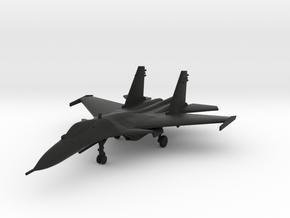Sukhoi Su-33 Flanker-D in Black Natural Versatile Plastic