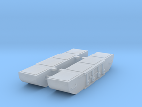 Covenanter pontoons 1:285 in Smooth Fine Detail Plastic