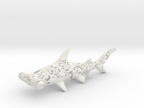 Maori Shark in White Natural Versatile Plastic