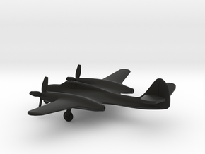 McDonnell XP-67 Moonbat in Black Natural Versatile Plastic: 1:200