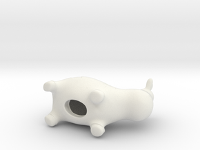 Betsy - the employer brand cow (50mm) in White Natural Versatile Plastic