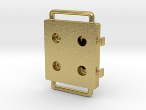 Blister Device End Cap (4 Chamber Version) in Natural Brass