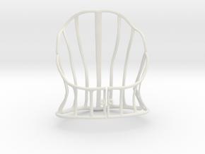Cage Corset in White Natural Versatile Plastic: Small