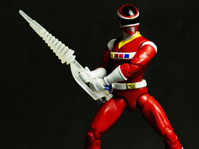 Space Red Accessory - Spiral Saber V2 in White Natural Versatile Plastic