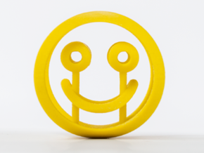Smile/Sad (d=60mm) in Yellow Processed Versatile Plastic