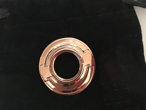 Tron inspired disc pendant  in 14k Rose Gold Plated Brass