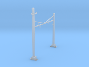CATENARY PRR 2 TRACK N SCALE  in Smooth Fine Detail Plastic