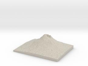 Model of Vesuvius in Natural Sandstone