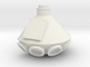 """1/64th """"S"""" Scale Grain Leg/Tower Distributor in White Natural Versatile Plastic"""