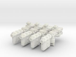 XM102 Lillours Class Frigate (4) in White Natural Versatile Plastic