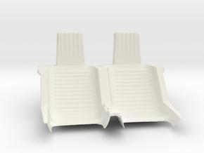 Captain Action Silver Streak Dual Seat in White Natural Versatile Plastic