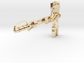 ForceAxe1pt in 14k Gold Plated Brass