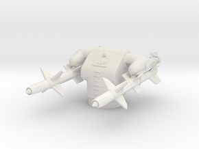 1/192 MK12 Guided Missile Launching System (GMLS) in White Natural Versatile Plastic