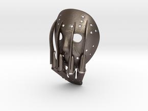 VS Pendant ⛧ VIL ⛧ in Polished Bronzed-Silver Steel: Large