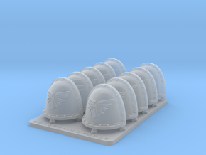 The Legions Of Michael V2 Crusader Shoulder Pads in Smooth Fine Detail Plastic