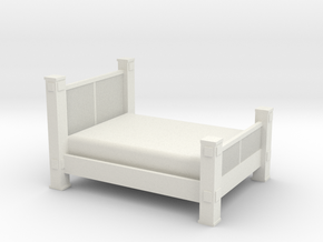 1/12 Scale Western Bed in White Natural Versatile Plastic