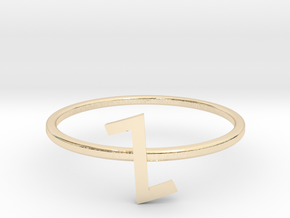 Letter Z Ring in 14K Yellow Gold: 7 / 54